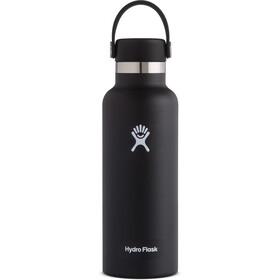 Hydro Flask Standard Mouth Drinkfles met standaard Flex Cap 532ml, black